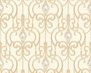 AS Tapete beige gold Stil Ornamente kaufen