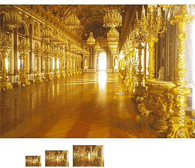 Fototapete Goldener Spiegelsaal Versailles Architektur Online Kaufen