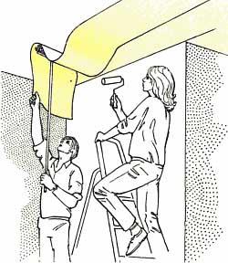 anleitung tapezieren und tapeten entfernen tipps. Black Bedroom Furniture Sets. Home Design Ideas