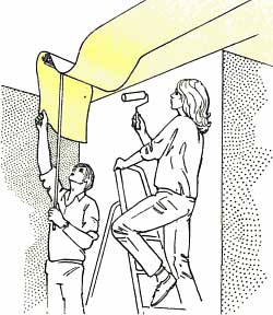 Anleitung tapezieren und tapeten entfernen tipps - Zimmerdecke abhangen anleitung ...