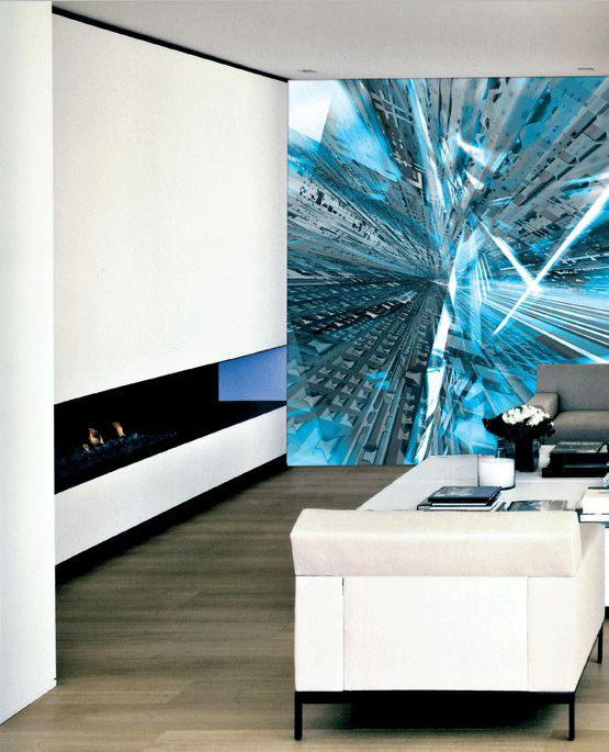 Fototapete moderne kunst abstrakte bilder kaufen - Fototapete blau ...