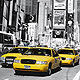 Fototapete New York Times Square Taxi gelb