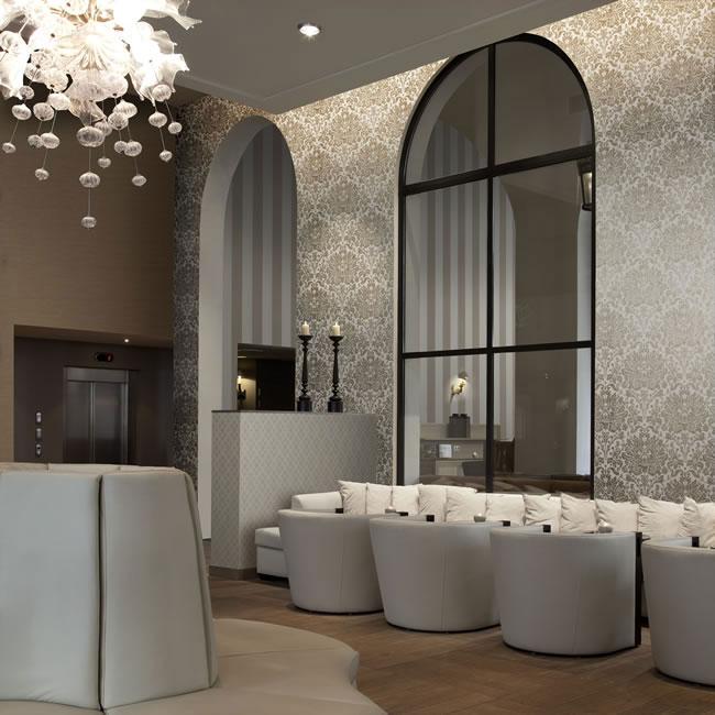 luxus tapeten klassisch und modern online kaufen - Barock Tapete Wohnzimmer Weis
