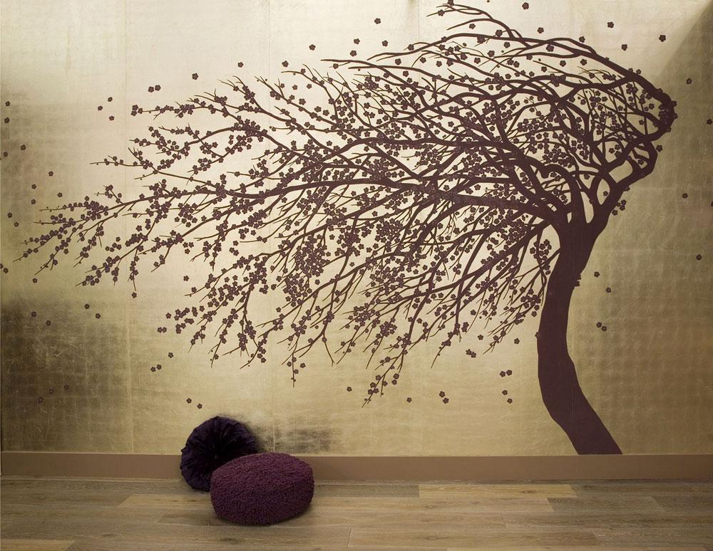 Seidentapeten Tapete Hersteller : Japanese Style Wall Art