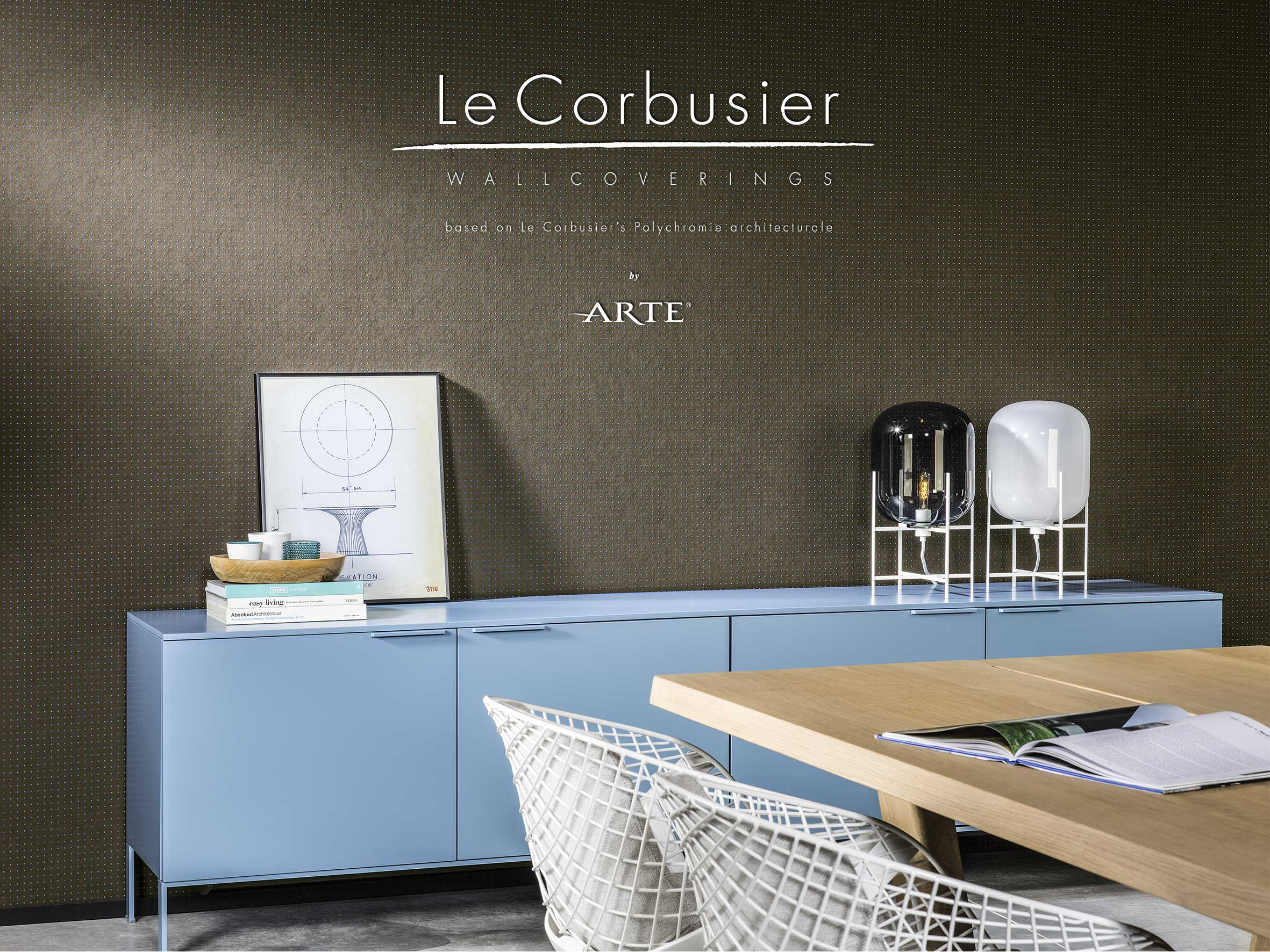 stil le corbusier tapeten design arte online kaufen. Black Bedroom Furniture Sets. Home Design Ideas