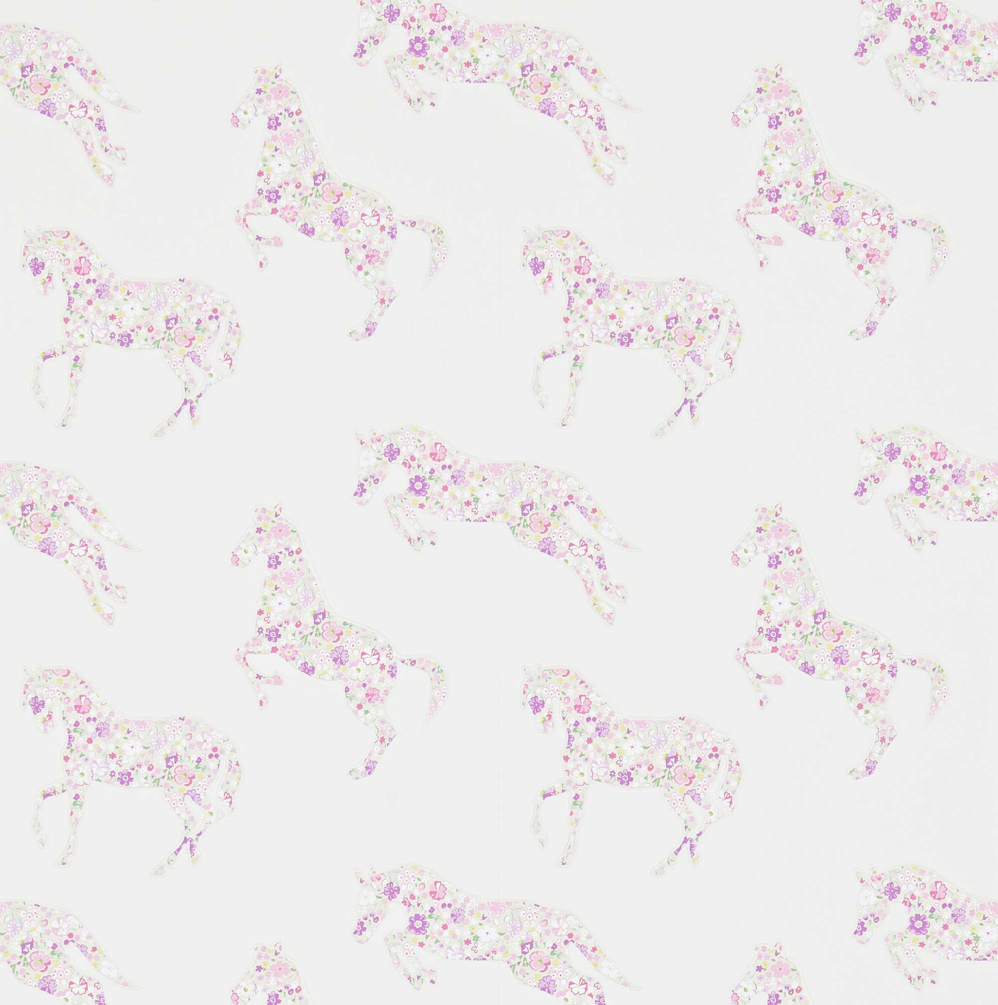 Kinderzimmer Tapeten Jungen : Tapeten Kinderzimmer – Pferde, bunte Farben
