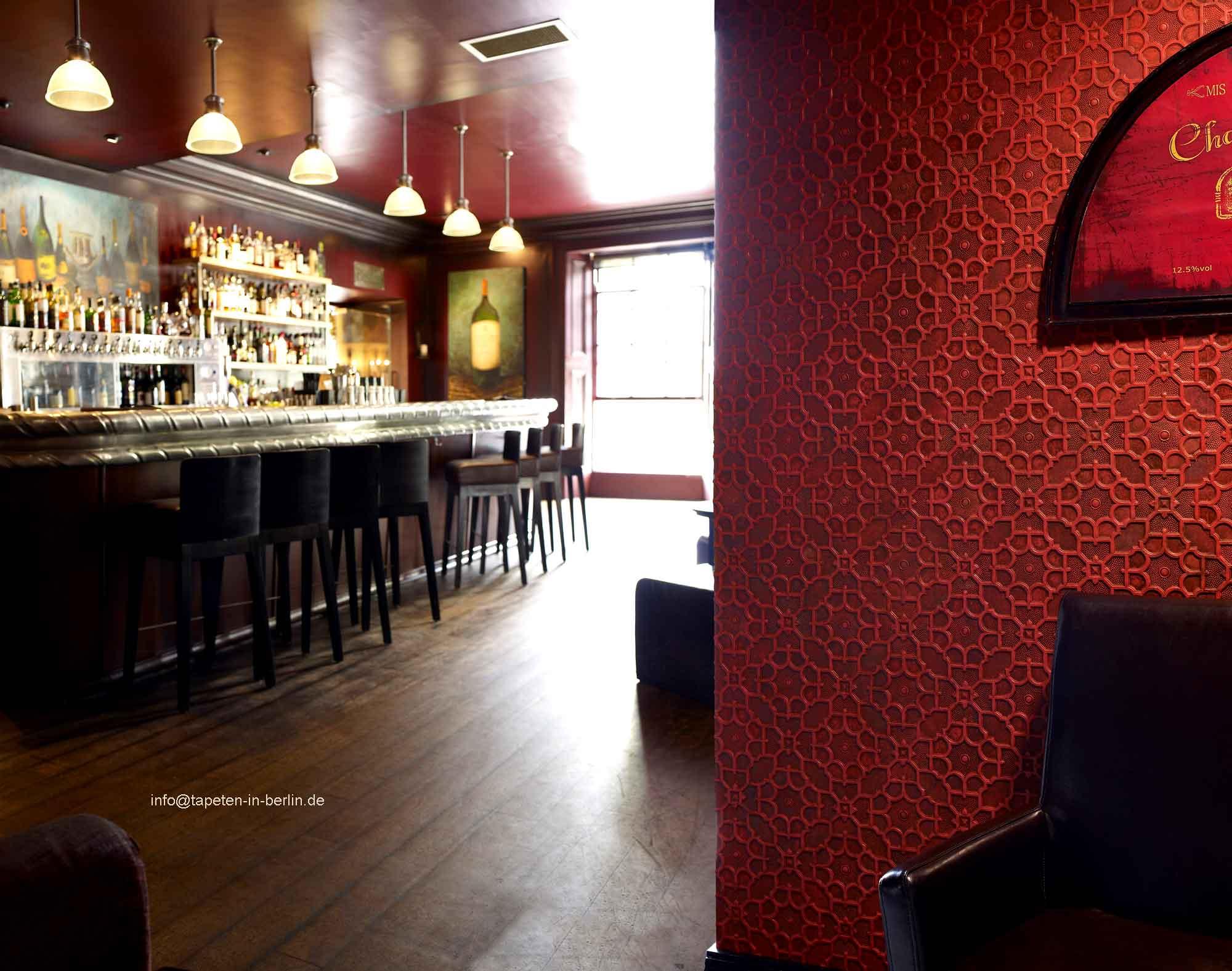 linkrusta tapeten linkrusta in gastronomie restaurant. Black Bedroom Furniture Sets. Home Design Ideas