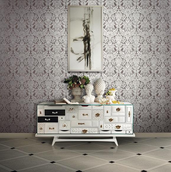Barock Tapeten Restposten : Luxus Tapeten Gold Tapete und Stil Tapete Lotus 8 online kaufen