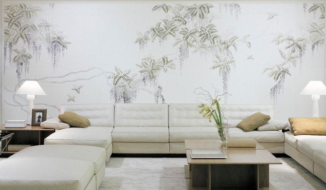 exclusive tapeten handgemalte wandbilder online kaufen. Black Bedroom Furniture Sets. Home Design Ideas